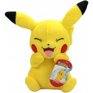 Pokemon PIKACHU LAUGHING Closed Eyes Plush 20cm Original