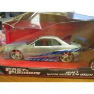 BOX DAMAGED - Model Car BRIAN's NISSAN SKYLINE GT-R R34 1/24 Die Cast FAST FURIOUS 7 Jada