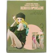 SEXY Figure Statue REBECCA ROSSELLINI Version KHAKI 12cm BANPRESTO Groovy Baby Shot V 5 Lupin the 3rd Third