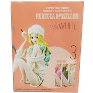 SEXY Figure Statue REBECCA ROSSELLINI Version WHITE 12cm BANPRESTO Groovy Baby Shot V 5 Lupin the 3rd Third