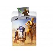 Cotton BED SET Original STAR WARS TRIO Yoda C3P0 R2-D2 Duvet Cover 160x200cm