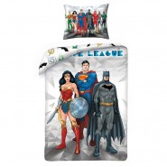 BED SET Original JUSTICE LEAGUE TRIO Wonder Woman Superman Batman DUVET COVER 140x200cm COTTON