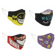 Washable Face Mask GO POP Random Original 100% COTTON Adjustable Reusable