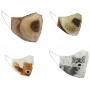 Washable Face Mask TRUDI Animals Random Original 100% COTTON Adjustable Reusable