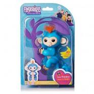 FINGERLINGS Monkey CHARLIE 12cm LIGHT BLUE Baby Monkey Robotic Interactive WowWee
