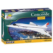 Playset PLANE CONCORDE COBI 1917 Brooklands Museum G-BBDG Building Blocks Historical Collection