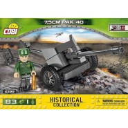 Playset Military Cannon 7,5cm PAK 40 Historical Collection World War II Army COBI 2398