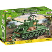 Playset Military Tank M4A3E8 SHERMAN EASY EIGHT COBI 2533 Building Blocks Historical Collection