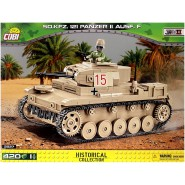 Playset Building Blocks SD.Kfz. 121 Panzer II Ausf. F 420  World War 2 Historical Collection 2527