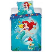 ARIEL MERMAID With Fish And Crab Cotton BED Set DUVET COVER 100x135cm Original Faro