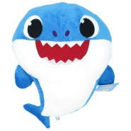 PLUSH Soft Toy 38cm DADDY SHARK BLUE from BABY SHARK With Music Song ORIGINAL SPANDEX