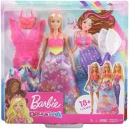 BARBIE Doll With 18 different LOOK Original DREAMTOPIA Mattel GJK40nal Mattel FRB12