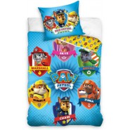 PAW PATROL 6 Characters BED Set DUVET COVER 100x135cm Original Carbotex 100% Cotton