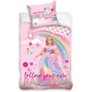 Bed Set BARBIE Trio Lying Down DUVET COVER 140x200cm + Pillow Cover 70x90cm Cotton Carbotex
