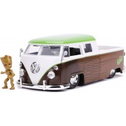 1963 VOLKSWAGEN BUS PICKUP With Figure Groot 1/24 DIE CAST Marvel JADA Toys