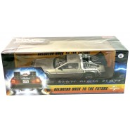 Model Car DELOREAN DMC Back To The Future Time Machine 24cm Scala 1/24 ORIGINAL Official Sun Star 2711