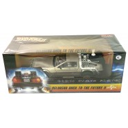 Model Car DELOREAN DMC Back To The Future Time Machine 24cm 1/24 ORIGINAL Official Sun Star 2710