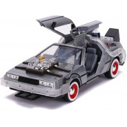 BACK TO THE FUTURE Part 3 Die Cast Model with LED Car DeLOREAN Scale 1/24 20cm Jada Toys Time Machine