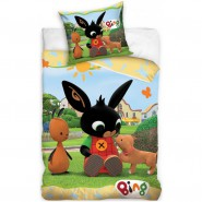 BED SET 140x200cm BING With FLOP and a Puppy Dog Case 60x70cm 100% Cotton Original