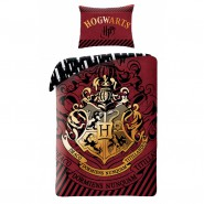 Bed Set HARRY POTTER Hogwarts School RED Coat DUVET COVER Cotton ORIGINAL Official