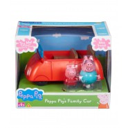 PEPPA PIG'S Family Car With Sounds 15cm With FIGURES Father Pig And Peppa Originale