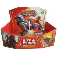 GORMITI Figure Hyperbeasts Deluxe ALPHA PYRON and RIFF 15cm with LIGHT and SOUNDS Original Giochi Preziosi