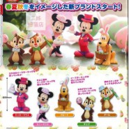 DISNEY Complete Set 5 Different FIGURES from Mickey Mouse Minnie Cip Ciop Pluto TAKARA TOMY Seasonal Easter Gashapon