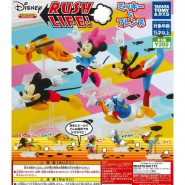 DISNEY Complete Set 5 Different FIGURES from Mickey Mouse Minnie Donald Duck Goofy Pluto TAKARA TOMY Rush Life Gashapon