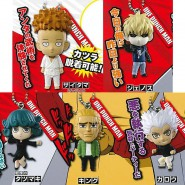 ONE PUNCH MAN Complete Set 5 Different Keychain FIGURES TAKARA TOMY Gashapon