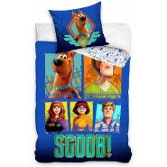 BED SET Original SCOOBY DOO Dog SCOOB! Duvet Cover 140x200cm + 70x90cm 100% Cotton