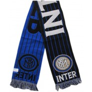 SCARF Original INTER Internazionale FC Model SMALL Blue LINES Anfd Big Black Stripes Official JACQUARD 140cm