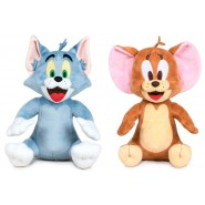 Pair 2 Plush TOM and JERRY 20cm from Animated Cartoon Cat Mouse Original Play by Play DISNEY