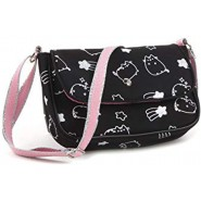 PUSHEEN Little Shoulder BAG 20x15cm BLACK and SILVER Original Vadobag