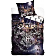 CASTLE OF HOGWARTS Bed Set HARRY POTTER 2 Pieces DUVET COVER 160x200cm and Pillow Case 70x80cm Cotton ORIGINAL Official