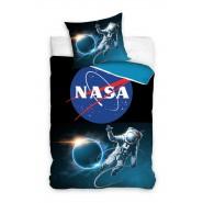 NASA Logo BLACK SPACE Astronaut Single Bed Set Original DUVET COVER 140x200cm Cotton OFFICIAL