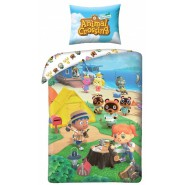 ANIMAL CROSSING Single Bed Set Characters Cutting Wood Original DUVET COVER 140x200cm Cotton OFFICIAL