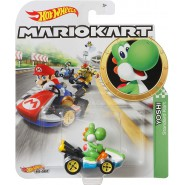 Die Cast Model YOSHI KART Version STANDARD From SUPER MARIO Scale 1:64 5cm Hot Wheels