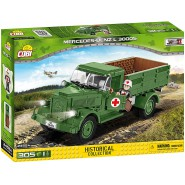 Playset Military Pick Up Mercedes L 300S 2455A Building Blocks Historical Collection