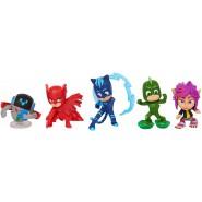 BOX SET 5 FIGURES 6cm Characters PJ MASKS Catboy + Owlette + Gekko + PJ Robot + RIP
