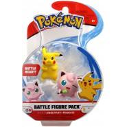 POKEMON Box 2 FIGURES Pikachu e Jigglypuff 4cm Original WCT Battle Figure Pack