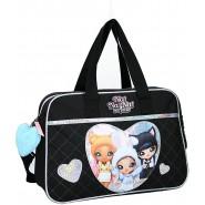 Shoulder Bag 38x28cm NA! NA! NA! TRIO 3 Characters GLITTERED Hearts  ORIGINAL Vadobag NA NA NA