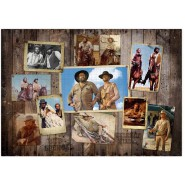 Puzzle BUD SPENCER TERENCE HILL Western Photo Wall 1000 Pieces 68x48cm Original Oakie Doakie