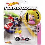 Die Cast Model PEACH P-WING KART From SUPER MARIO Scale 1:64 5cm Hot Wheels GBG25