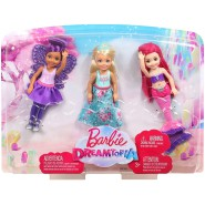 BARBIE Dreamtopia BOX 3 DOLLS Chelsea Mermaid Princess and Fairy ORIGINAL Mattel FPL86