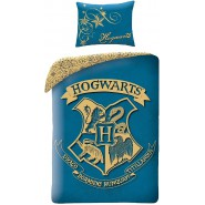 Bed Set HARRY POTTER Hogwarts School BLUE Coat DUVET COVER Cotton ORIGINAL Official