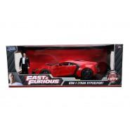 FAST FURIOUS Car Model Dom 's LYKAN HYPERSPORT Red DieCast 1/18 WITH FIGURE Original JADA 31140