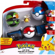 POKEMON Clip 'n' Go Official BELT With Figure CUBONE WITH BONE and 2 PokeBall ORIGINAL Official