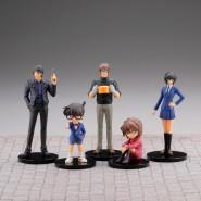 DETECTIVE CONAN Complete Set 6 FIGURES Real Figure Collection Volume 1 Gashapon KAIYODO