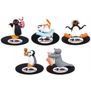 PINGU Penguin Complete Set 5 FIGURES Collection Baby Seal Takara Tomy Gashapon 40th Anniversary