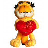 Plush of GARFIELD Cat WITH HEART I LOVE CAT 24cm Original OFFICIAL
